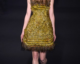 Nature inspired Alberta Ferreti's fall 2014 RTW line, and the mix between femininity and environmental elements is definitely worthy of attention.