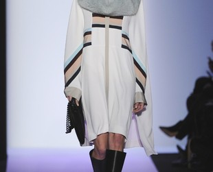 Elegance with an infused mysterious allure was the focus of the BCBG Max Azria fall 2014 collection which marked the brand's 25th anniversary. Check out the brand's fab fall 2014 NYFW collection, next!