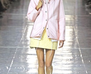 Sportswear met sophistication and luxury in Miu Miu's fall 2014 RTW line, so check out the gorgeous practical designs, next!