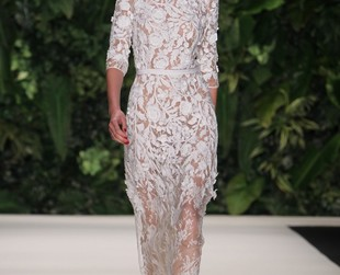 Elaborate dresses displaying Spanish and Mexican influences dominated the runway at Naeem Khan for spring 2014.