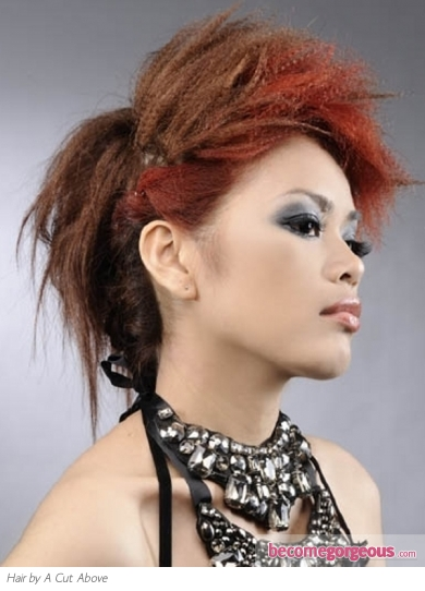 Red Two-Tone Hair Style