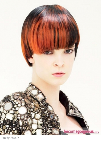 Colored Bangs Hair Style