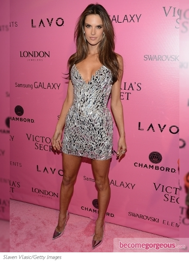 Alessandra Ambrosio at the VS Show 2012 After Party