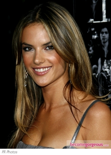 Alessandra Ambrosio Sandy Brown Hair Color