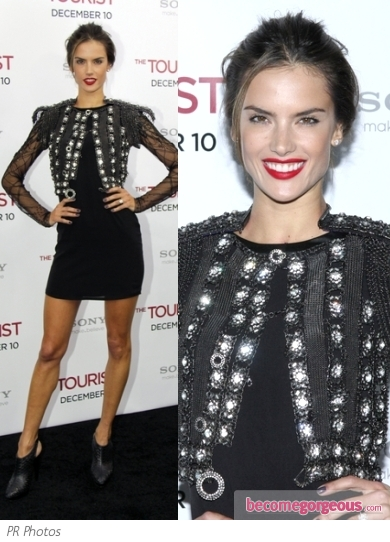 Alessandra Ambrosio in Sexy LBD and Jacket