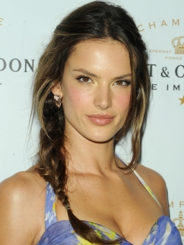 Alessandra Ambrosio Braided Side Pony
