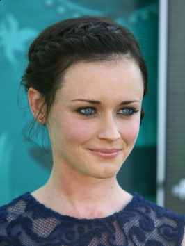 Alexis Bledel French Braid Updo