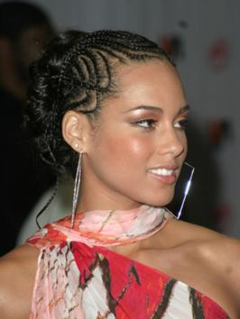 Alicia Keys with Cornrow Braids