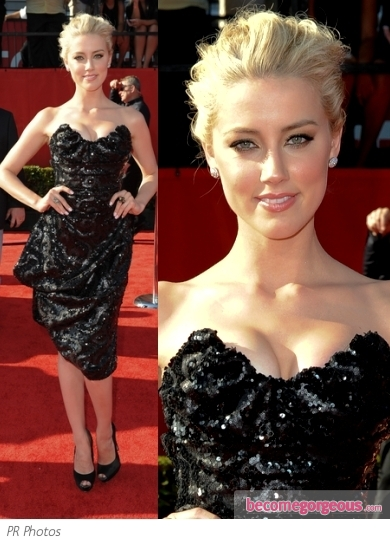 Amber Heard in Vivienne Westwood Bustier Dress