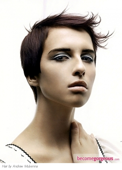 Chic Super-Short Hair Style