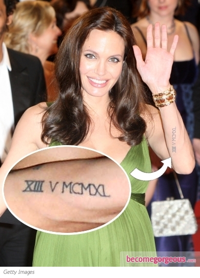 Angelina  Jolie XIII Arm Tattoo