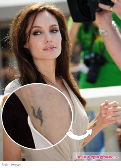 Angelina Jolie Wrist Tattoo