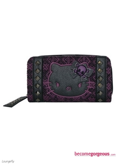 Hello Kitty Angry Kitty Purple Wallet