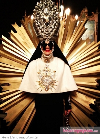 Anna Dello Russo as the Pope