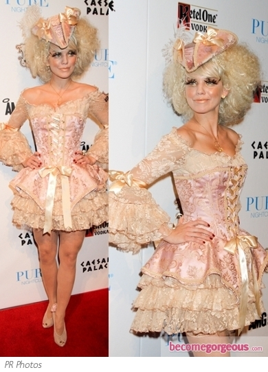 AnnaLynne McCord in Victorian Halloween Costume