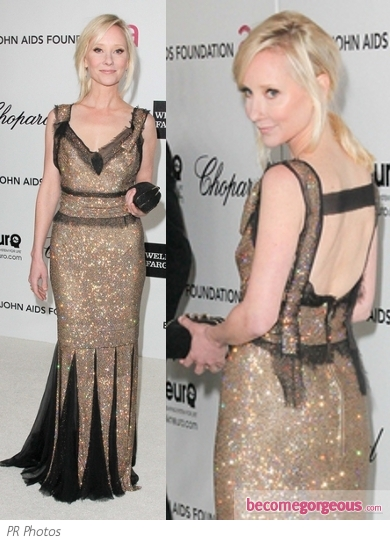 Anne Heche in Dolce & Gabbana Shimmer Gown