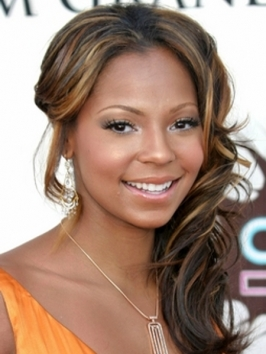 Ashanti with Soft Layered Hairstyle
