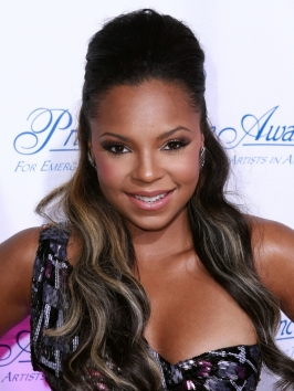 Ashanti Half Updo Hairstyle with Bump