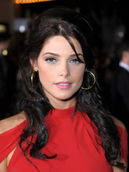 Ashley Greene Half Updo Hairstyle