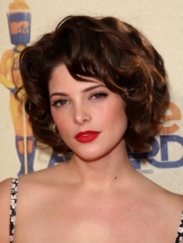 Ashley Greene with Retro Curly Hairstyle