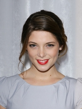 Ashley Greene with Simple Updo Hairstyle
