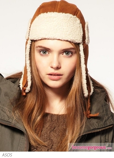 Faux Sheepskin Trapper Hat