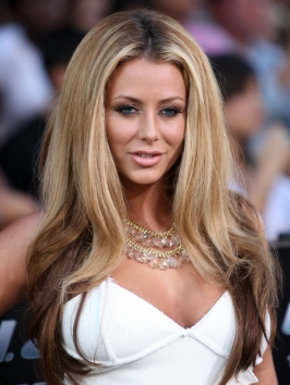 Aubrey ODay Blonde Top Dark On Bottom Hairstyle