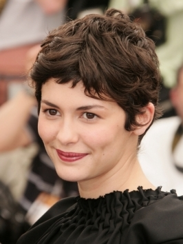 To get Audrey Tatou's short pixie haircut, ask for a gamine cut, with lots of texture and a short, soft, uneven fringe.
