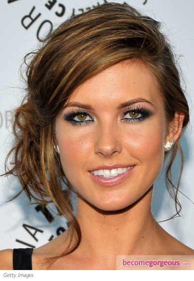 Audrina Patridge Silver Eye Makeup