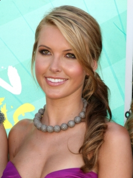 Audrina Patridge Curly Side Pony Hairstyle