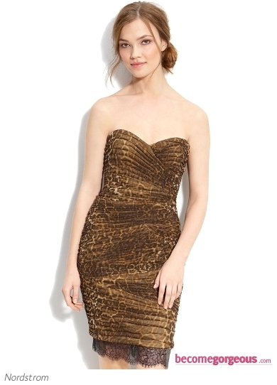 Add a splash of color to your party look with this dazzling Forever Unique Multi Animal Print Dress. Show off your body-conscious style attitude to make the best first impression.