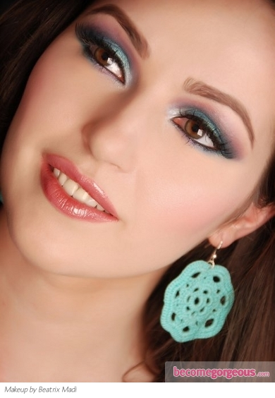 Colorful Party Eye Makeup