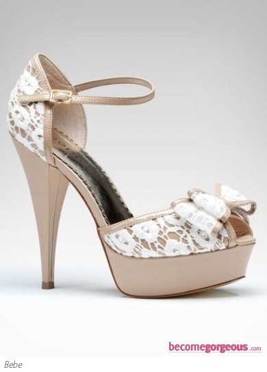 Bebe Grace Peep Toe Sandals