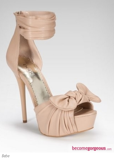 Bebe Luella Knotted Leather Platform Sandal