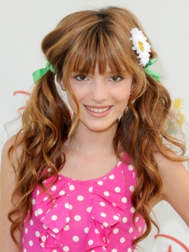 Bella Thorne Cute Curly Pigtails