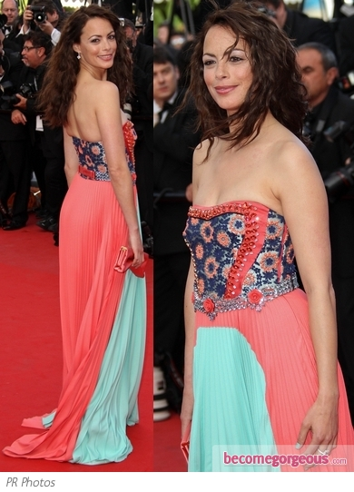 Berenice Bejo in Prada Strapless Dress