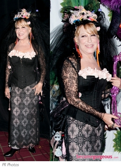 Bette Midler in La Catrina Halloween Costume
