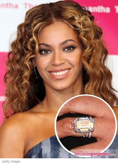 pictures celebrity engagement rings beyonce engagement