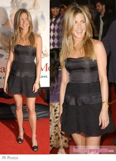 Jennifer Aniston in Valentino Mini Dress