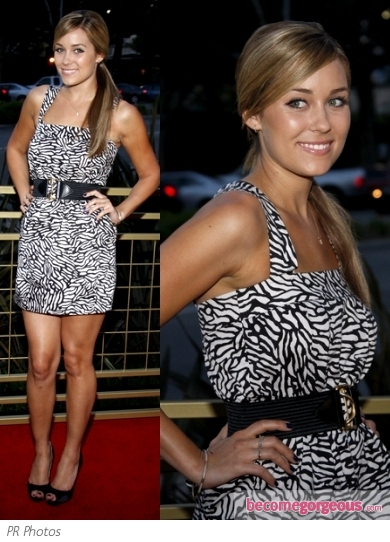 Lauren Conrad in French Connection Print Dress