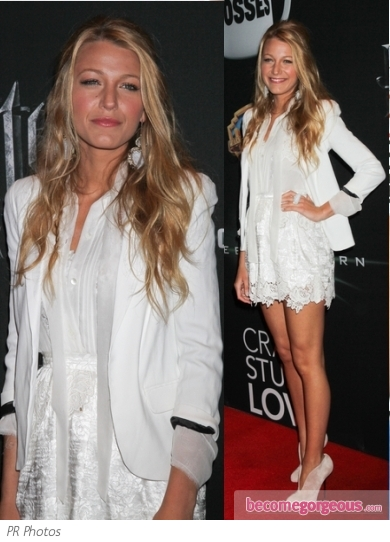 Blake Lively in Dolce & Gabbana Lace Dress