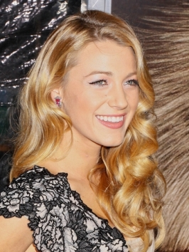 Blake Lively with Veronica Lake Inspired Hair
