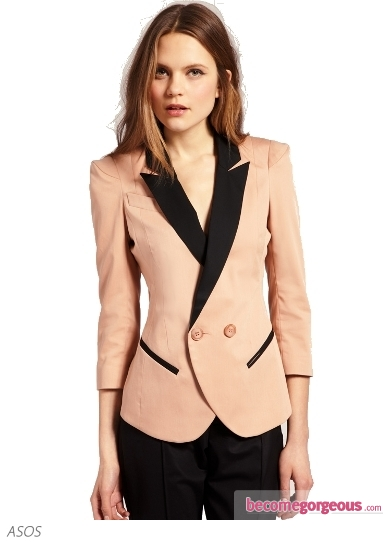 Blazer With Contrast Lapels