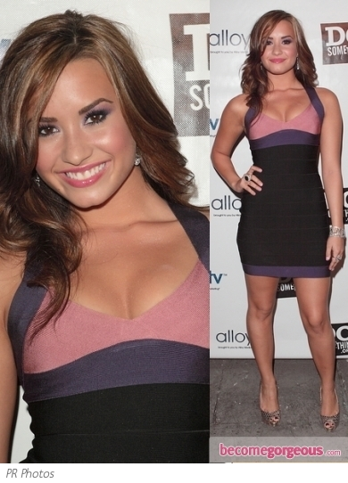 Demi Lovato in  Herve Leger Dress