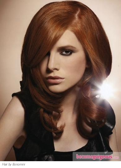Glossy Red Hair Style