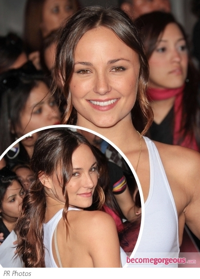 Briana Evigan Wavy Low Ponytail