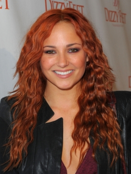 Briana Evigan Red Wavy Hairstyle