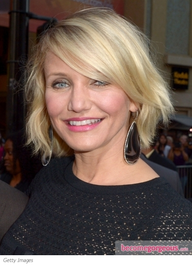 Cameron Diaz's Tousled Bob Hairstyle