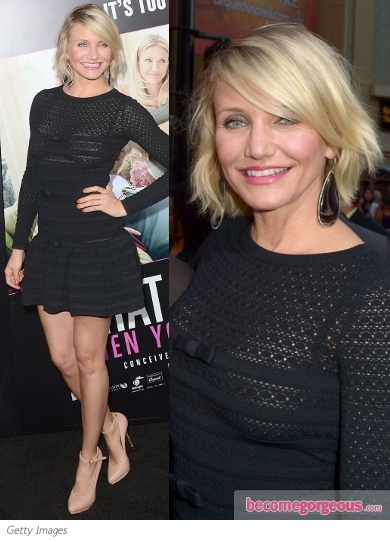 Cameron Diaz in Valentino Black Dress