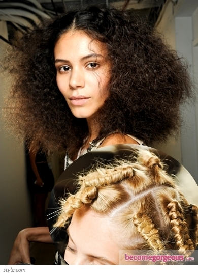 Sexy meets sweet with cascading brushed-out waves at the Anna Sui spring 2012 show. Inspired by the 1940s icon Veronica Lake, hair was styled from a deep side part and shapely curls which were brushed out for softness.